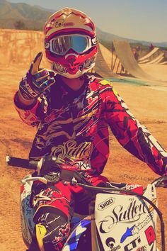 Something about this excites me (: love guys in their motocross gear <3