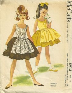 McCalls 5913 Helen Lee Girls Dress with Attached Petticoat by patterngate, via Flickr