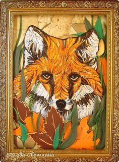 awesome quilling fox