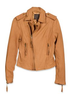Ailey Leather Jacket in Cognac (also comes in Black). Joie.