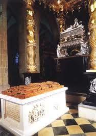 Gothic tumb of St. Adalbert, circa 1480. The work of Hans Brant.