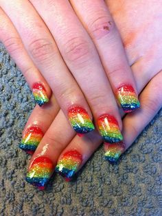Gay Pride Nails! https://www.facebook.com/thesoulfuleclectic