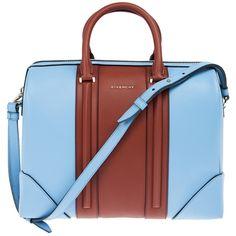 GIVENCHY 'Lucretia' bowling bag ($3,055) ❤ liked on Polyvore featuring bags, handbags, metallic handbags, bowler handbags, piping bag, color block handbags and red bag