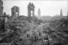 Ciudad alemana bombardeada, II guerra mundial