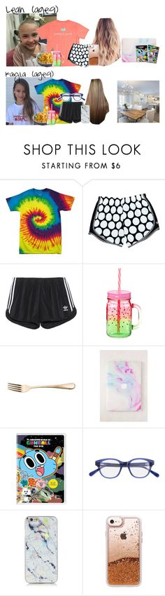 """""""Leah & Kayla // 7-29-17 // Rainy Afternoon Lunch At Home✨💙"""" by dream-familiess ❤ liked on Polyvore featuring adidas Originals, Bahne, Restoration Hardware, Urban Outfitters, Cartoon Network, J.Crew, Casetify and TheMuellerFamily"""