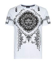 Just Cavalli Bandana Print T-Shirt White  Harrods