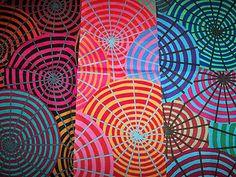 "K.Fassett ""Parasols""  1 design in three colorways -- I like them together!"