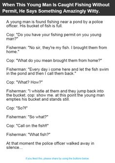 When This Young Man Is Caught Fishing Without Permit, He Says Something Amazingly Witty.