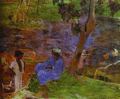 à l' étang - (Paul Gauguin)