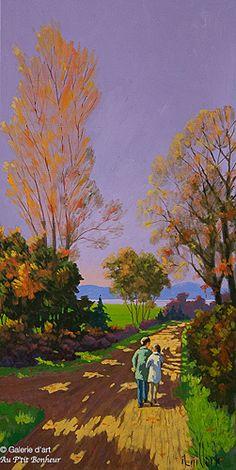 Rémi Clark, 'Les beaux jours d'automne', 15'' x 30'' | Galerie d'art - Au P'tit Bonheur - Art Gallery