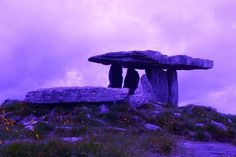 photo by Cat-Art.    The  Poulnabrone dolmen in County Clare, Ireland