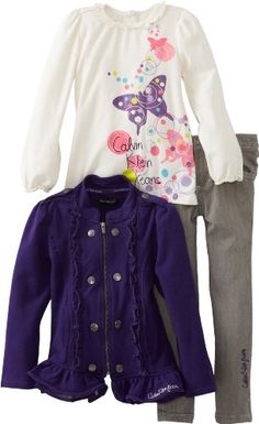#Christmas 2012 #Gift Idea if your partner has a daughter: a cute yet stylish Calvin Klein set with long-sleeve top, jacket and pants
