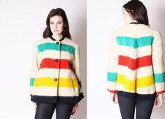 Hudson's Bay Blanket Coat  Vintage Hudson's Bay Coat  by aiseirigh, $318.00