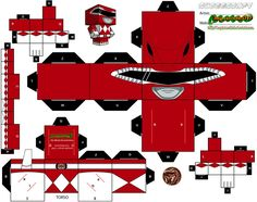 Part of Phase 1 of a huge request for , here is the Red Ranger from Season 1 of Mighty Morphin Power Rangers. Mighty Morphin Power Rangers and all copyrighted materia. Power Ranger Dino Charge, Power Ranger Party, Power Ranger Birthday, Power Rangers Invitations, Powe Rangers, Origami Game, Pink Power Rangers, Turkey Disguise, Power Rangers Samurai