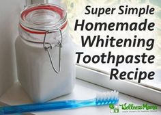 Natural Teeth Whitening Homemade Whitening Toothpast Recipe Simple Natural Whitening Toothpaste Recipe - The best natural whitening toothpaste recipe I've ever used. It combines minerals, xylitol, gum supporting MCT oil and essential oils to whiten teeth. Toothpaste Recipe, Homemade Toothpaste, Natural Toothpaste, Homemade Mouthwash, Charcoal Toothpaste, Homemade Soaps, Natural Deodorant, Teeth Whitening Remedies, Natural Teeth Whitening