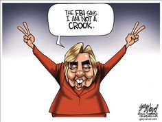 Political Cartoons by Gary Varvel  NOT really.  They said she committed crimes but would not charge her.
