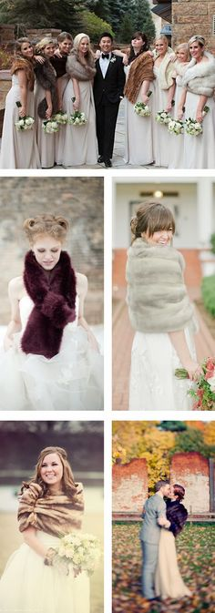How to wear fur on your wedding day . . .