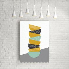 Gifts for the Kitchen: Handmade gifts for the kitchen. Gifts for Cooks and Chefs. Kitchen Posters, Kitchen Prints, Mid Century Modern Kitchen, Ikea Frames, Scandinavian Art, Geometric Art, Printable Wall Art, Wall Art Decor, Mid-century Modern