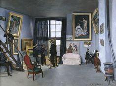 Frédéric Bazille (1841-1870), L'Atelier de Bazille, 9 rue de La Condamine à Paris, 1869-1870. Huile sur toile, 98 x 128,5 cm. Paris, musée d'Orsay. Photo : RMN-GP/Hervé Lewandowski