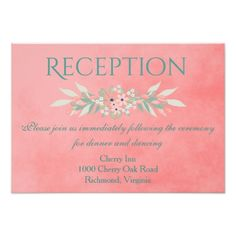 Pink and yellow floral garden reception invitation reception similar ideas stopboris Gallery