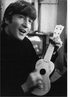 Nice picture of young John Lennon with a ukulele