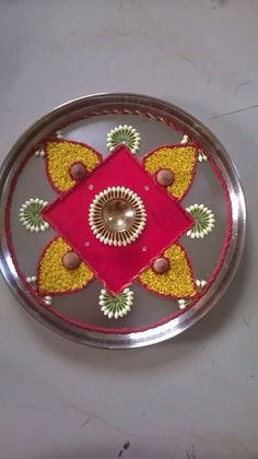 drawings of a girl Housewarming Decorations, Diy Diwali Decorations, Festival Decorations, Flower Decorations, Rangoli Ideas, Rangoli Designs Diwali, Diwali Rangoli, Arti Thali Decoration, Decoration For Ganpati