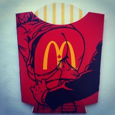 Ben Frost - acrylic on large fries package 03