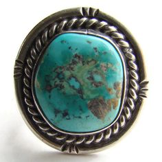 Vintage Southwestern Blue Turquoise Sterling Silver by redroselady
