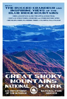 Great Smoky Mountains National Park - http://www.national-park-posters.com/