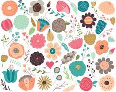 Resultado de imagen para cute flowers vector png