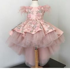 Custom made dress with lace appliqués … - Baby Dresses Cute Little Girl Dresses, Dresses Kids Girl, Kids Outfits, Flower Girl Dresses, Baby Dresses, Pageant Dresses, Flower Girls, Fashion Kids, Robes Tutu