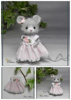 Little Mouse 6 cm Crochet Mouse, Cute Crochet, Crochet Dolls, Crochet Shoes Pattern, Christmas Crochet Patterns, Crochet Christmas, Crochet Baby Beanie, Felt Mouse, House Mouse