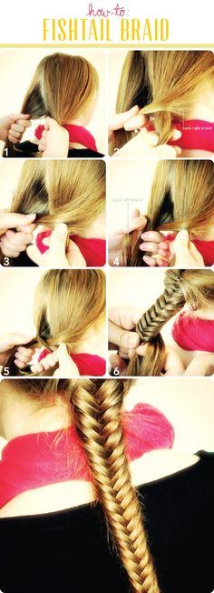fishtail braid hair