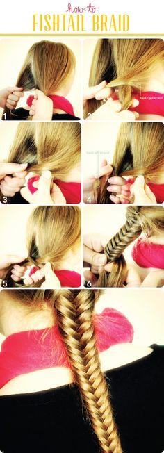 fishtail braid hair