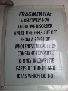 A new cognitive disorder