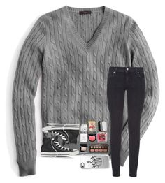 """Warm + Cozy "" by kari-luvs-u-2 ❤ liked on Polyvore featuring J.Crew, Paige Denim, Converse, Bare Escentuals, Bobbi Brown Cosmetics, NYX, Dogeared, Fujifilm, M&Co and Casetify"