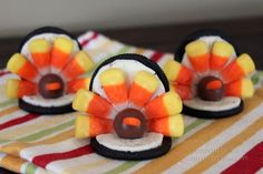 Easy to make cute turkey cookies!