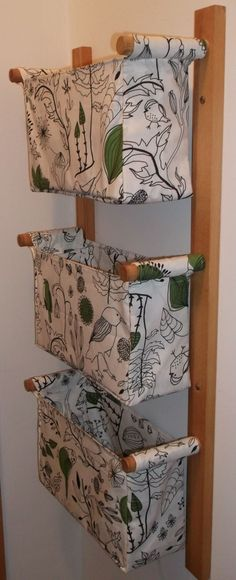 Wall storage.  Would be great for laundry room, then move each clothing to a similar rack in their own room.