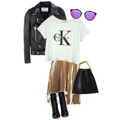 71a436d382f3 A fashion look from January 2016 featuring Calvin Klein t-shirts