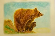 Animal painting Original painting  Watercolor от AtamanskiyArt