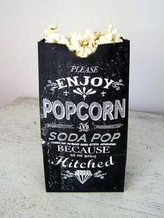 Love this rustic popcorn packaging design