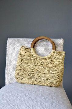Basketry Handbag - made with raffia from Universal Yarn