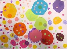 Art Lesson for kindergarten. Creating a work of art solely using dots. Art history connections to Aboriginal Dot paintings and pointillism.