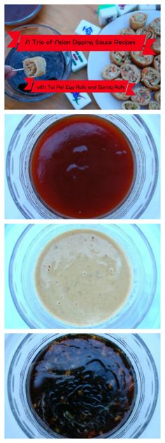 A Trio of Asian Dipping Sauce Recipes including Sweet & Sour Sauce, Mustard Sauce and  Savory Asian Dipping Sauce.