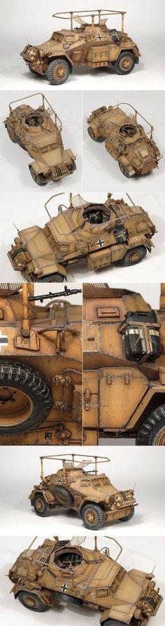 Sd Kfz 223 [Leichte Panzerspähwagen] Another splendid good old kit from Tamiya first released in 1974!