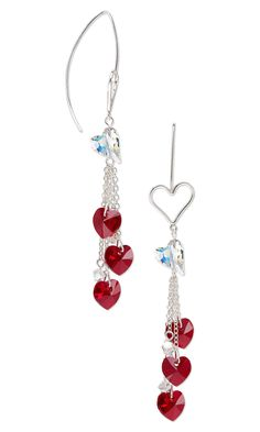 Jewelry Design - Earrings with Swarovski Crystal and Sterling Silver Chain - Fire Mountain Gems and Beads