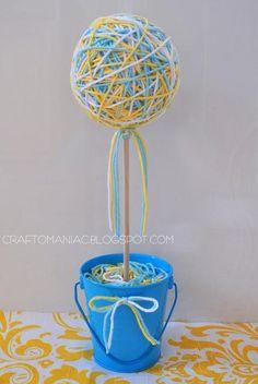 DIY Yarn Crafts : DIY Yarn Ball Topiary