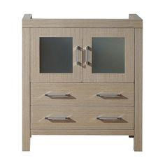 Virtu USA Dior 30-inch Light Oak Single Sink Cabinet Only Bathroom Vanity