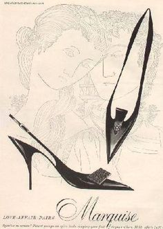 An artistic Vogue advertisement from March 1959
