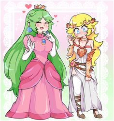 """commission for outfit swap of palutena and peach! Super Mario Kunst, Super Mario Art, Super Smash Bros Memes, Nintendo Super Smash Bros, Game Character, Character Design, Princesa Peach, Nintendo Princess, Video Games Girls"